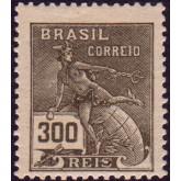 RHM 201 - 300 Réis - Mercúrio e Globo - oliva