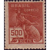 RHM 203 - 500 Réis - Mercúrio e Globo - castanho