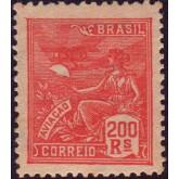 RHM 214 - 200 Réis - Aviação - vermelho