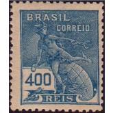 RHM 202 - 400 Réis - Mercúrio e Globo - azul