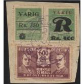 Fragmento com selos V-7, V-15 e C-35