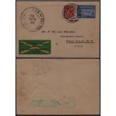 Carta enviada para Nova Iorque, do Rio de Janeiro via Recife