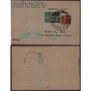 Cartão enviado do Recife para os Estados Unidos
