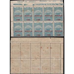 Z-11 - Bloco de 10 selos sendo um deles o Z-11A