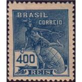 RHM 223 - 400 Réis - Mercúrio e globo - azul
