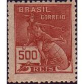 RHM 224 - 500 Réis - Mercúrio e Globo - castanho