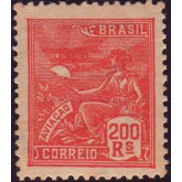 RHM 184 - 200 Réis - Aviação - vermelho