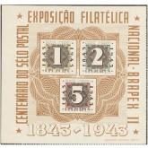 B-009 - Centenário do Selo Postal Brasileiro - BRAPEX II