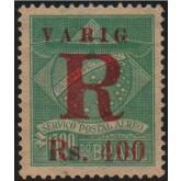 """RHM V-4f - 400 Réis - VARIG com sobrecarga R  """"Perna Fina"""" - Registro"""
