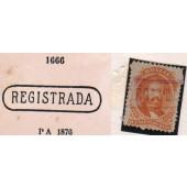 RHM 29 - Com Carimbo P.A. 1666 Na Cor Violeta
